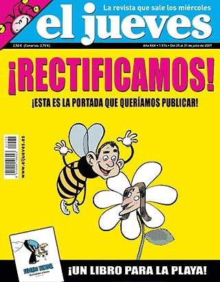 """""""Rectificación"""" de la revista El Jueves (Extraída de Elpais.com"""""""