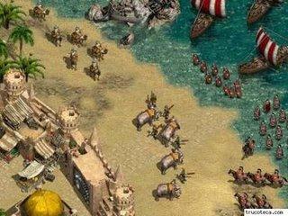 Imperium II: Llegada por mar de los invasores